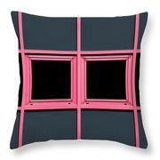 Pink Grid Throw Pillow
