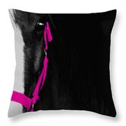 Pink Halter Throw Pillow