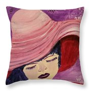 Pink Hat Throw Pillow