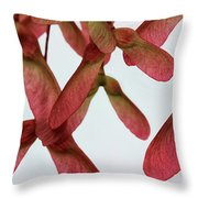 Pink Helicopters Throw Pillow