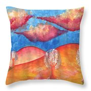 Pink Hills Dream Throw Pillow