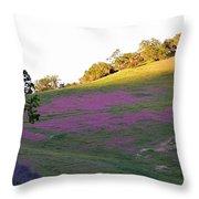 Pink Hills Throw Pillow