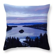 Pink Hues On Emerald Bay Throw Pillow