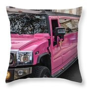 Pink Hummer At Trafalgar Throw Pillow
