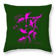 Pink Hummingbirds Throw Pillow