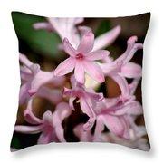 Pink Hyacinth Throw Pillow
