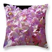 Pink Hydrangea Flower Floral Art Prints Baslee Troutman Throw Pillow