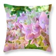 Pink Hydrangea Flower Garden Art Prints Baslee Troutman Throw Pillow