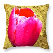 Pink Impression Tulip Throw Pillow