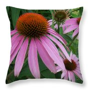 Pink In The Garden Throw Pillow