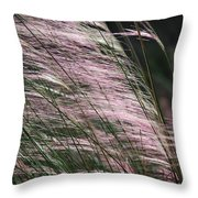 Pink In The Wind   Throw Pillow