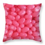 Pink Jelly Beans Throw Pillow