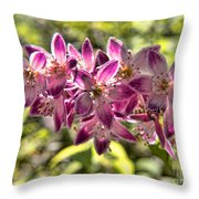 Pink Ladies In Spring Glory Throw Pillow