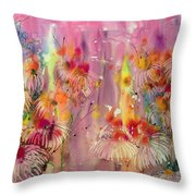 Pink Ladies Throw Pillow