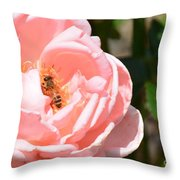 Pink Lady - Rose Throw Pillow