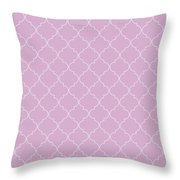 Pink Lavender Quatrefoil Throw Pillow