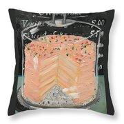 Pink Layer Cake Throw Pillow