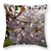 Pink Lilac Blossom Throw Pillow