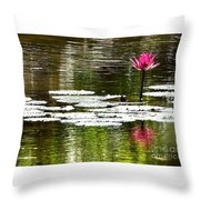 Pink Lily 12 Throw Pillow