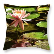 Pink Lily 14 Throw Pillow