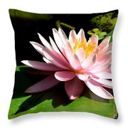 Pink Lily 9 Throw Pillow
