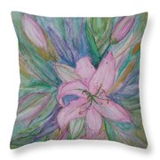 Pink Lily- Painting Throw Pillow