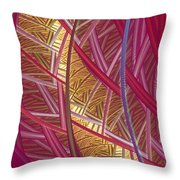 Pink Lines Throw Pillow