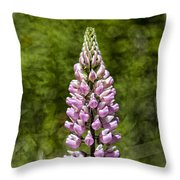 Pink Lupine Throw Pillow