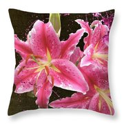 Pink Throw Pillow by M Montoya Alicea