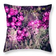 Pink Majestic Garden- Art By Linda Woods Throw Pillow