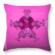 Pink Male Pipe Throw Pillow
