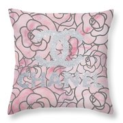 Pink Marble Chanel Throw Pillow