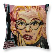 Pink Mary Throw Pillow