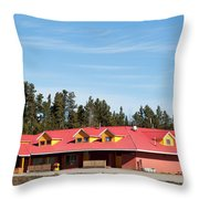 Pink Mountain British Columbia Throw Pillow