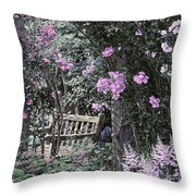 Pink Muted Garden Respite Throw Pillow
