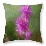 Pink Nature Abstract Throw Pillow