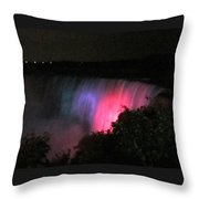 Pink Niagara Throw Pillow