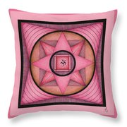 Pink Om Thing Throw Pillow