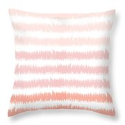 Pink Ombre Ikat Stripe- Art By Linda Woods Throw Pillow by Linda Woods