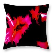 Pink On Black Throw Pillow