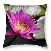 Pink On Water Throw Pillow