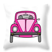 Pink On Wheels Throw Pillow