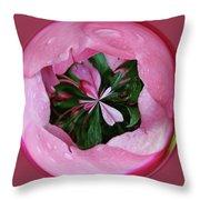 Pink Orb Throw Pillow