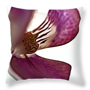 10555 Pink Orchid Throw Pillow
