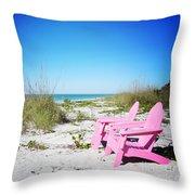 Pink Paradise Vanilla Pop Throw Pillow