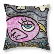 Pink Parrot Throw Pillow