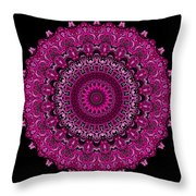 Pink Passion No. 7 Mandala Throw Pillow