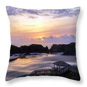 Pink Pastel Sunset Throw Pillow