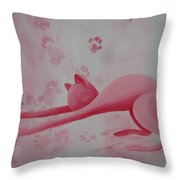 Pink Pause Throw Pillow