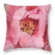 Pink Peony Throw Pillow